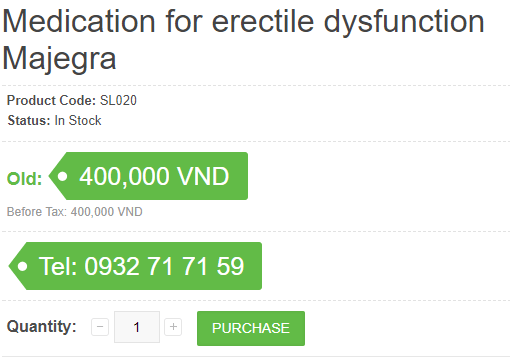 Since Majegra is given to treat erectile dysfunction mostly, the drug is used as needed, one pill per day prior to the proposed time of sexual intercourse